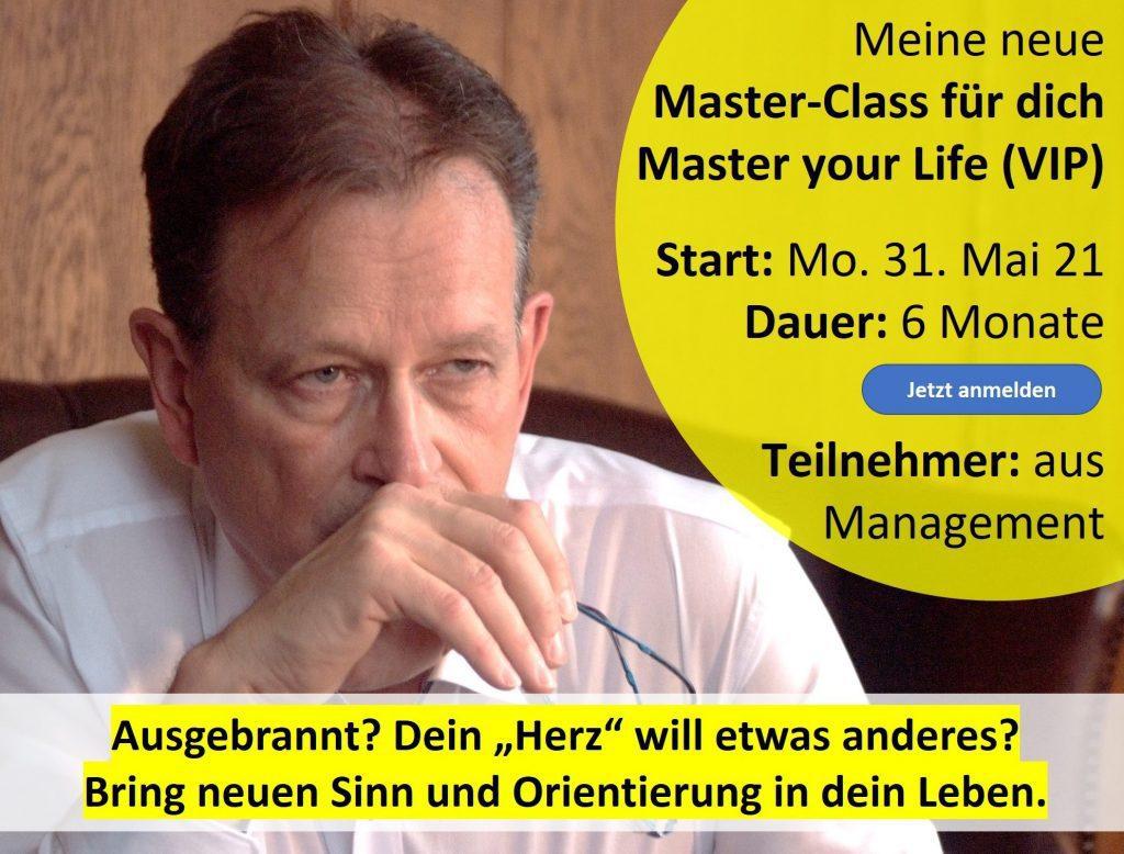 Neue Master-Class für Unternehmer:Innen + Manager:Innen Start 31. Mai 2021