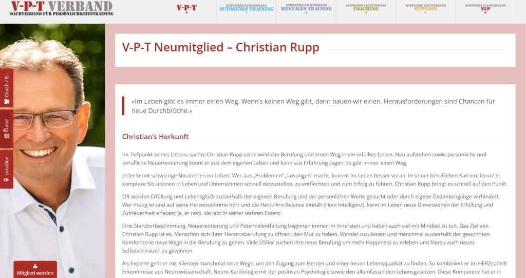 V-P-T Neumitglied – Christian Rupp