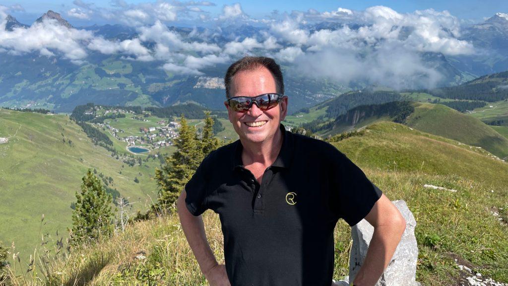 Christian Rupp in den Bergen. ICH LEBE MEINE BALANCE für Körper Seele und Geist